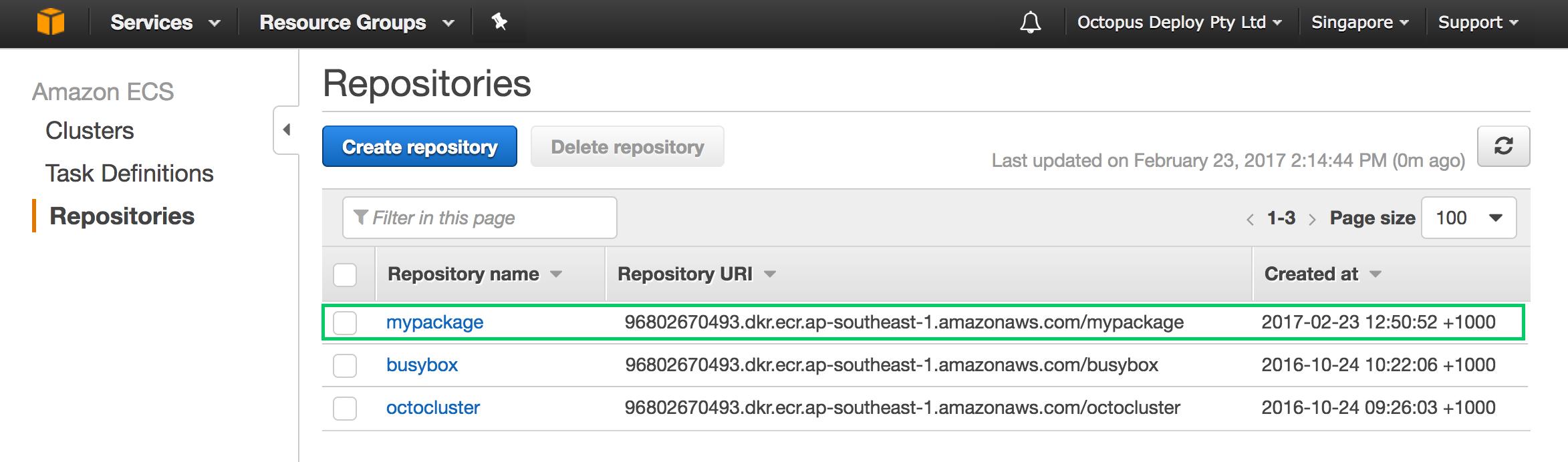 AWS Registries