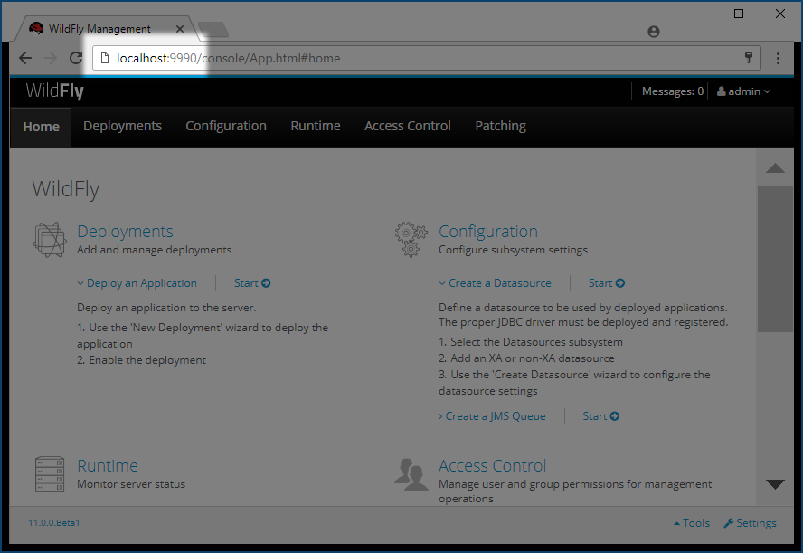 Wildfly Admin Console