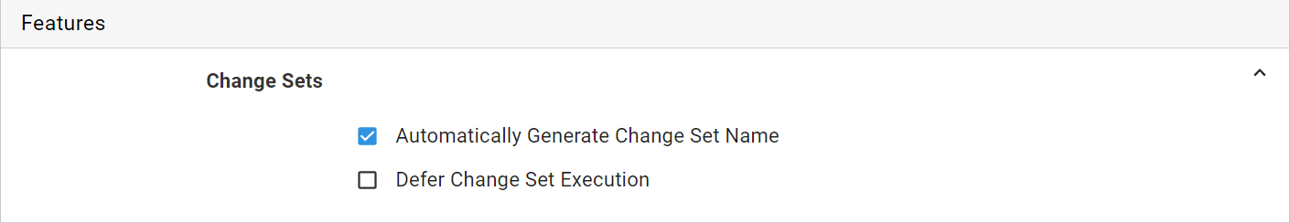 Change Set Feature