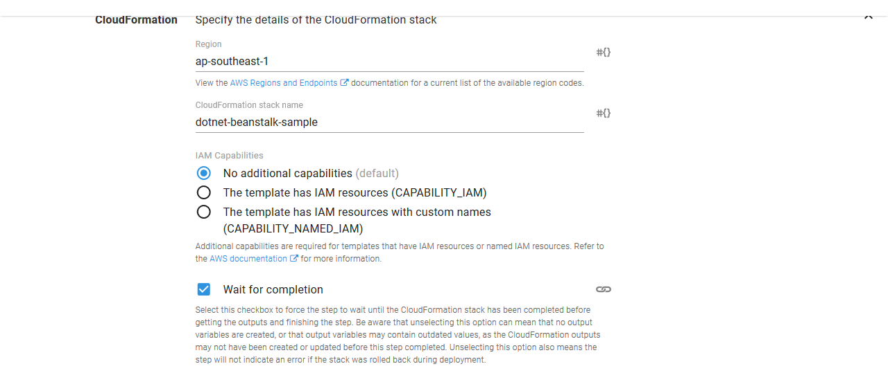 Deploy an AWS CloudFormation Template | Octopus Deploy