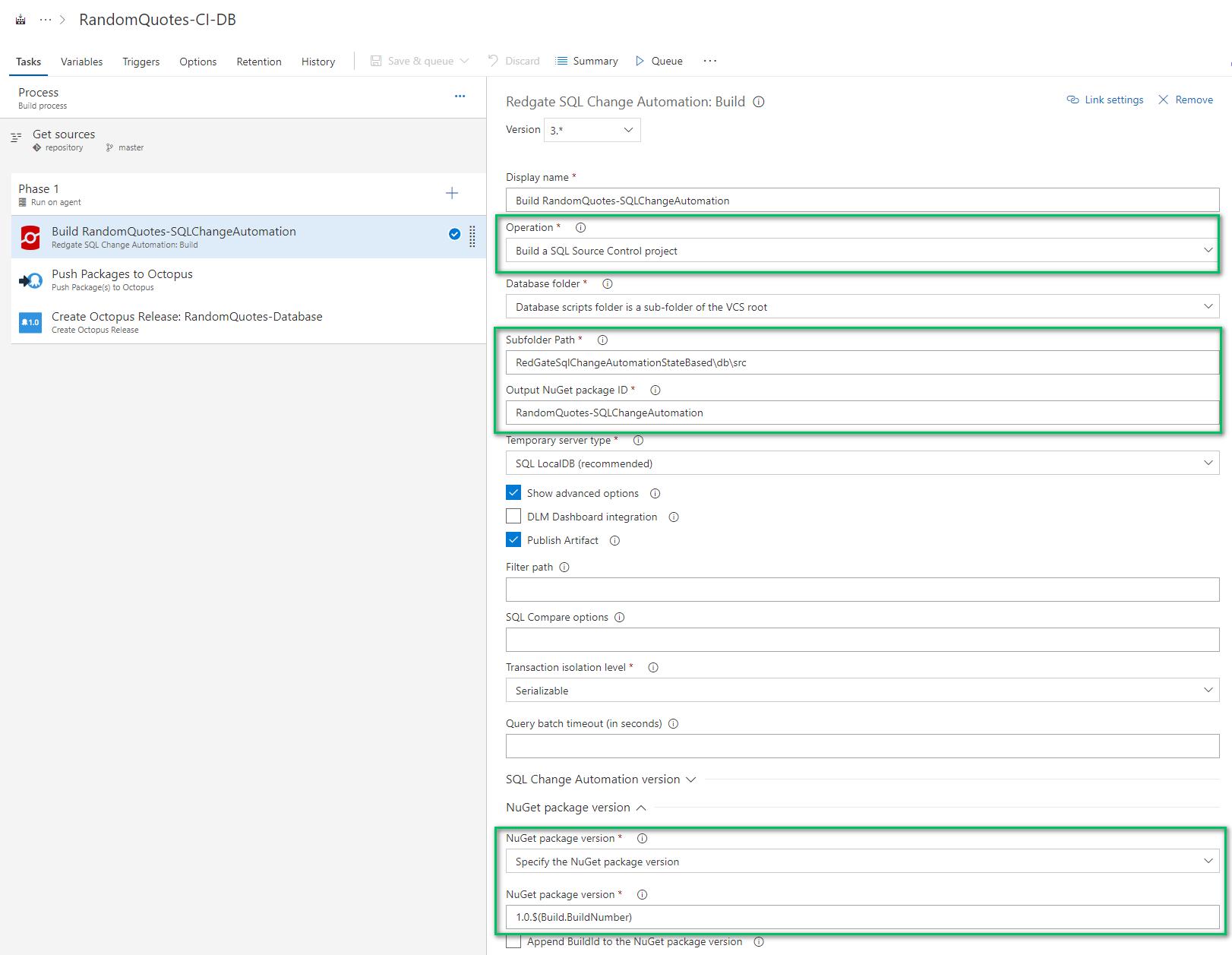 Build step in Azure DevOps