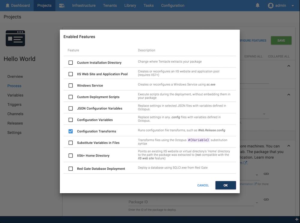Configuration Transforms screenshot