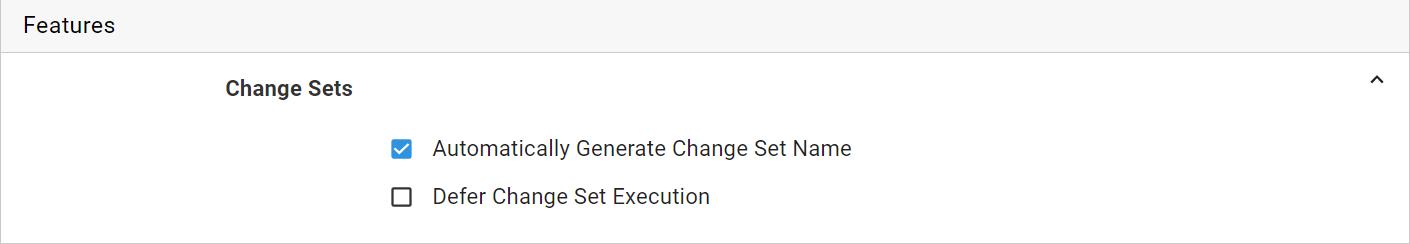Change Set Feature
