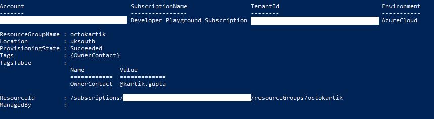 Screenshot of Azure Resource Groups