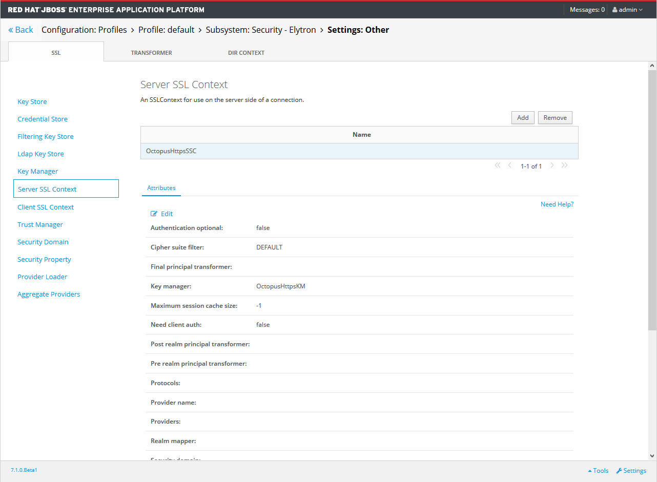 Elyton Server SSL Context