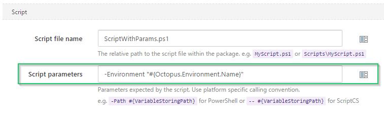Script Parameters