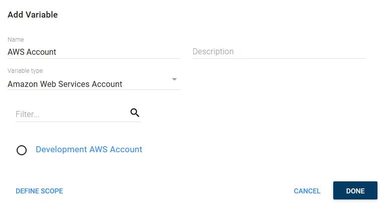 AWS Account Variable Selection