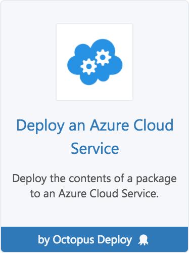 Cloud Service step template