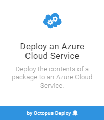 Cloud Service step template