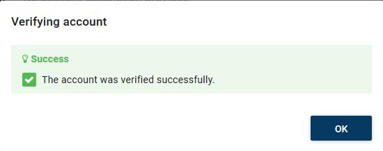 Account Verification