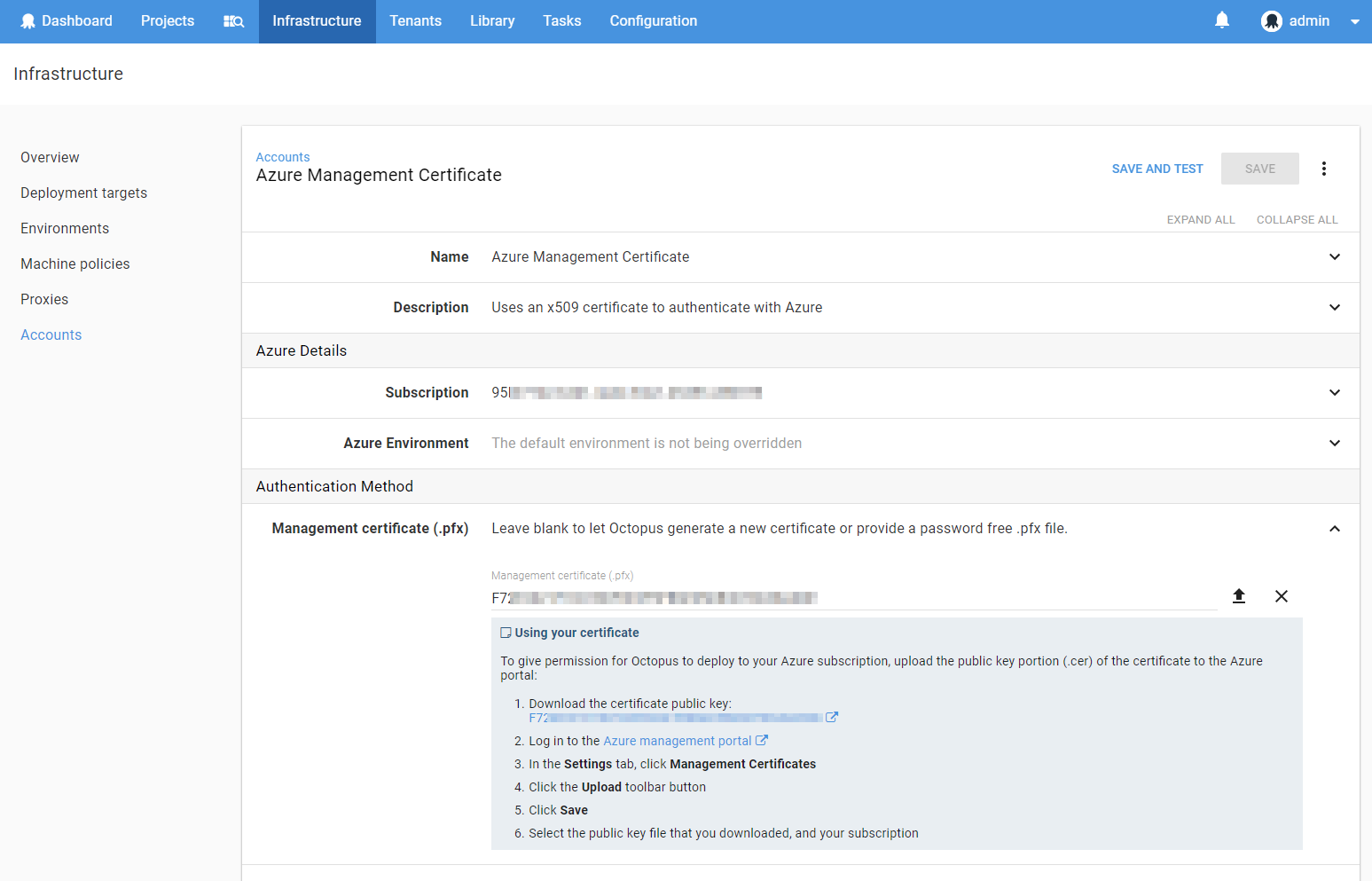 Download management certificate