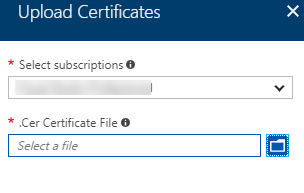 Upload certificate to Azure