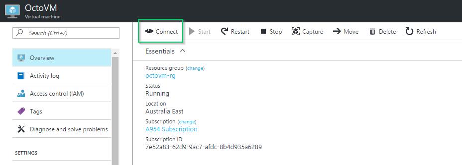 Connecting to a VM via RDP