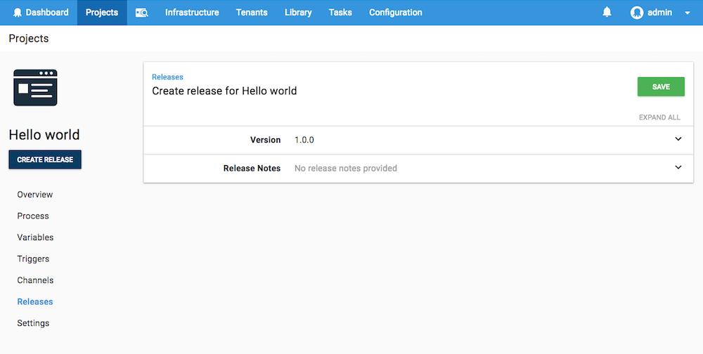 Create release
