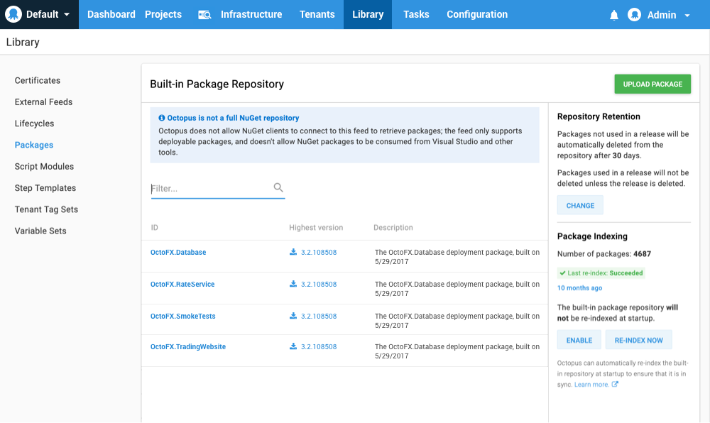The Built-in Package Repository