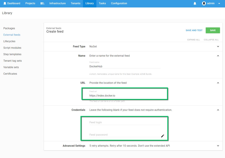 Docker Hub Registry Feed