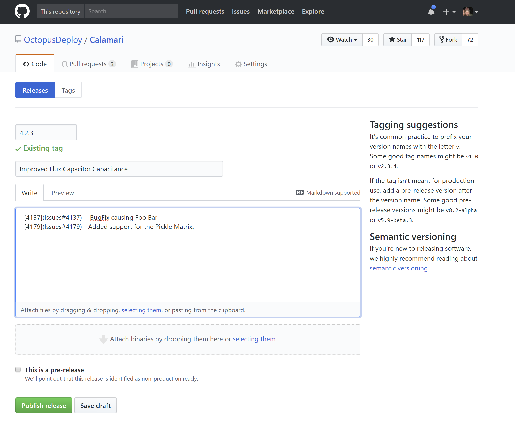 GitHub as a Feed - Octopus Deploy
