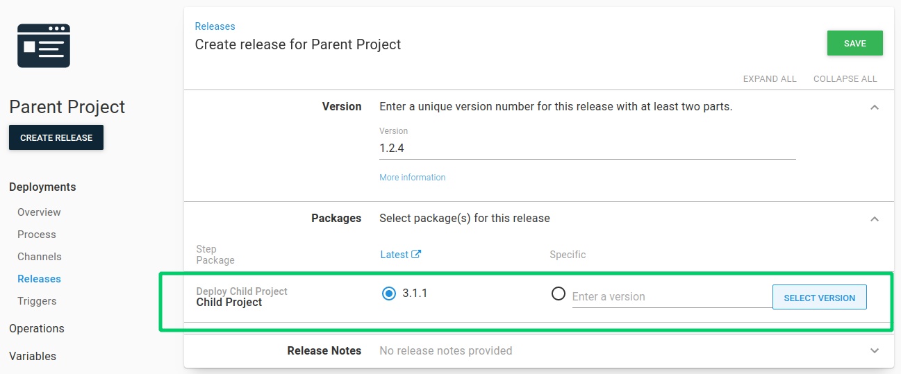 Create release with deploy release steps