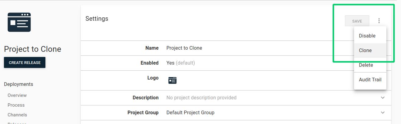 Clone a project