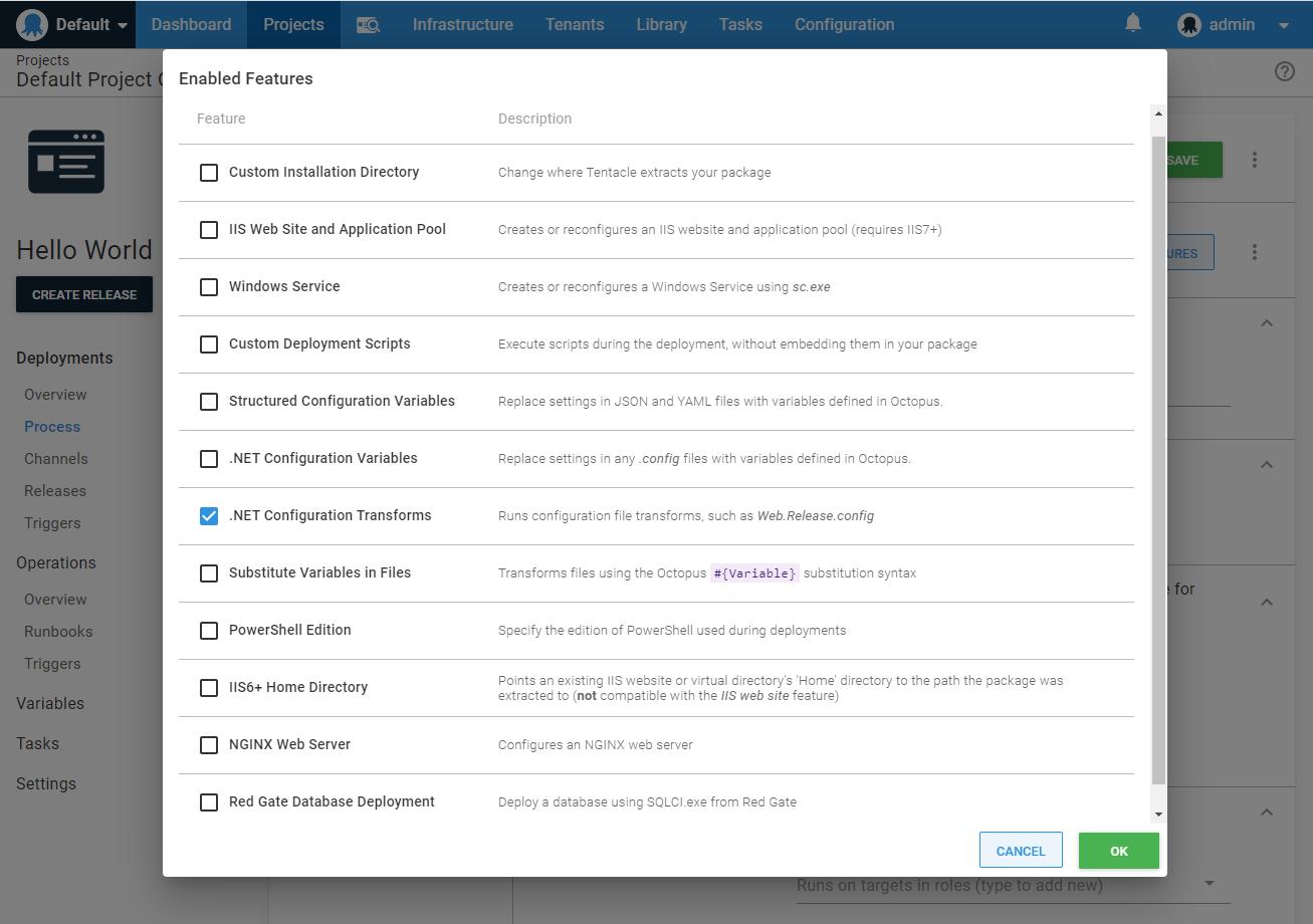 .NET Configuration Transforms screenshot