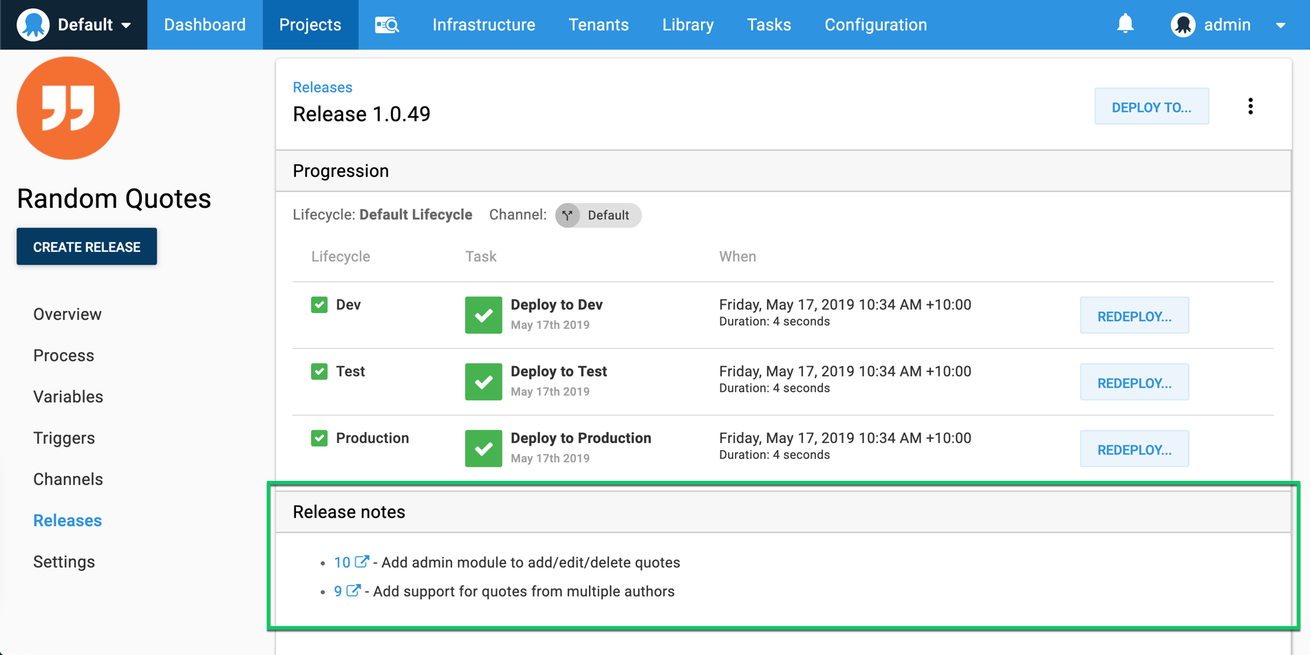 Octopus release with Azure DevOps work items