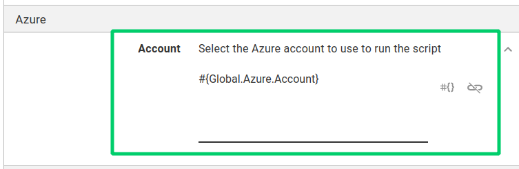 Azure Account variable