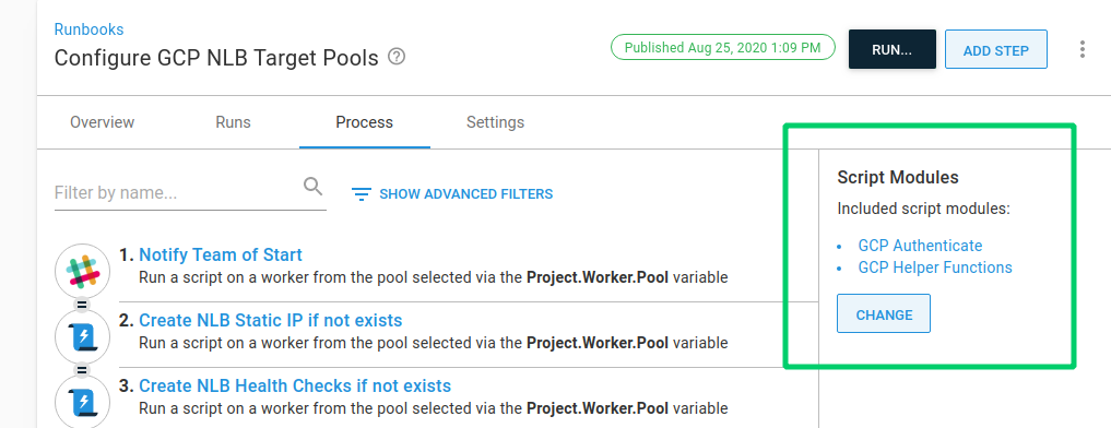 Google Cloud Project variables